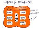 Opera y compara.