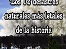 Los 12 desastres naturales más letales de la historia