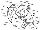 Lluvias con viento