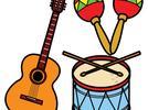 Interpretar canciones y acompañarlas con instrumentos musicales hechos por él