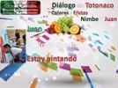 Diálogo en totonaco colores y frutas