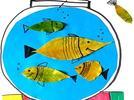 Peceras con peces dorados