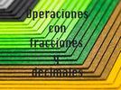 Operaciones con fracciones y decimales