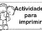 Actividades para imprimir para niños