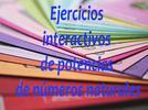 Ejercicios interactivos de potencias de números naturales